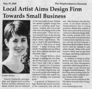 Jen Rolston - Shepherdstown Chronicle